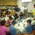 お台場の児童館でアマモの苗づくり(11月6日)