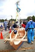 舟おろし(4月8日)菅家さん撮影